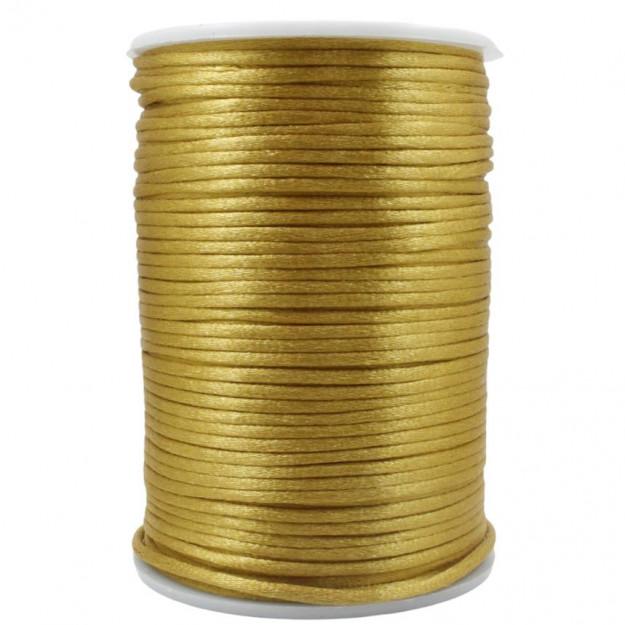FS38 - Fio de Seda 2mm Dourado - 5metros