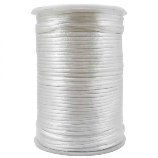 FS48 - Fio de Seda 2mm Branco - 5metros