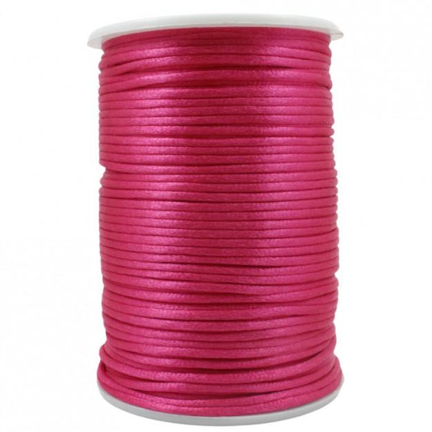 FS51 - Fio de Seda 2mm Rosa Neon - 5metros