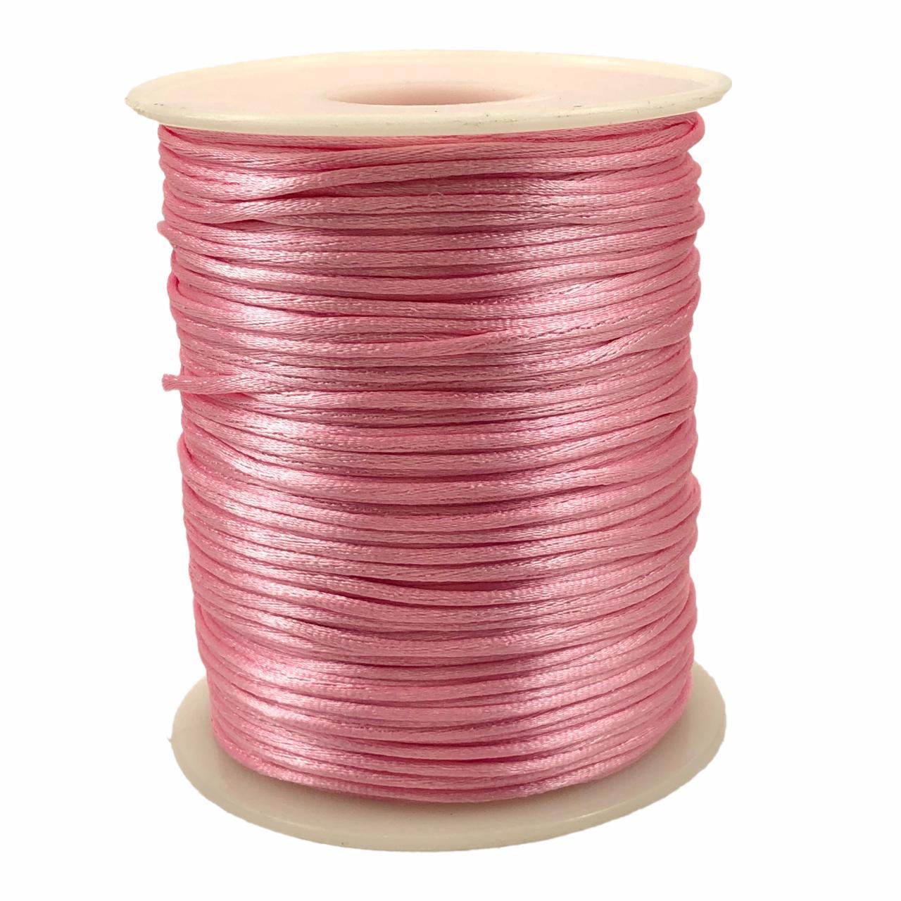 FS60 - Fio de Seda 1mm Rosa - 5metros
