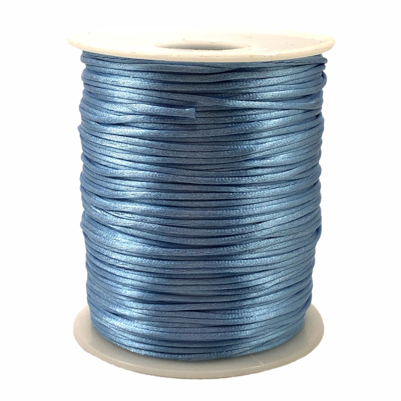 FS56 - Fio de Seda 1mm Azul Claro - 5metros
