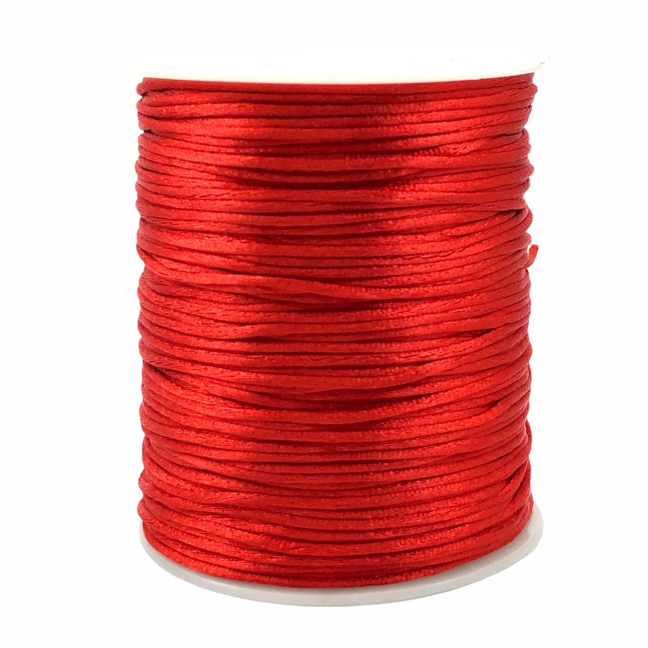 FS57 - Fio de Seda 1mm Vermelho - 5metros