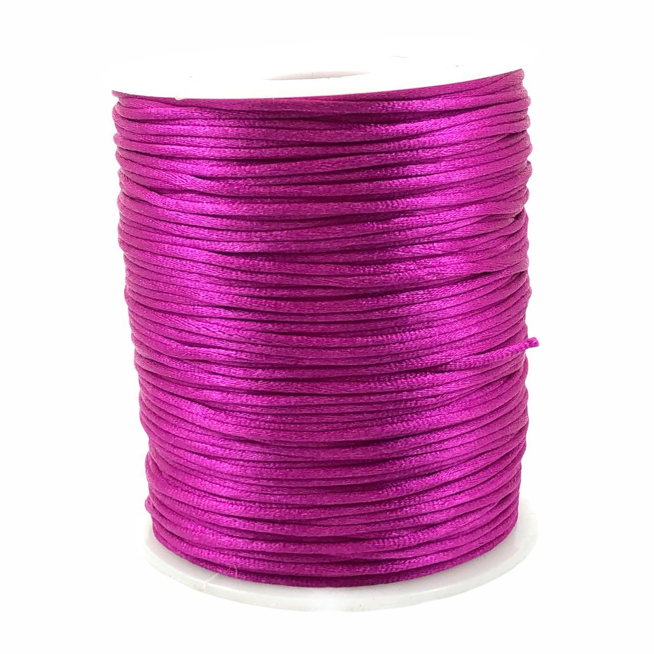 FS61 - Fio de Seda 1mm Violeta - 5metros