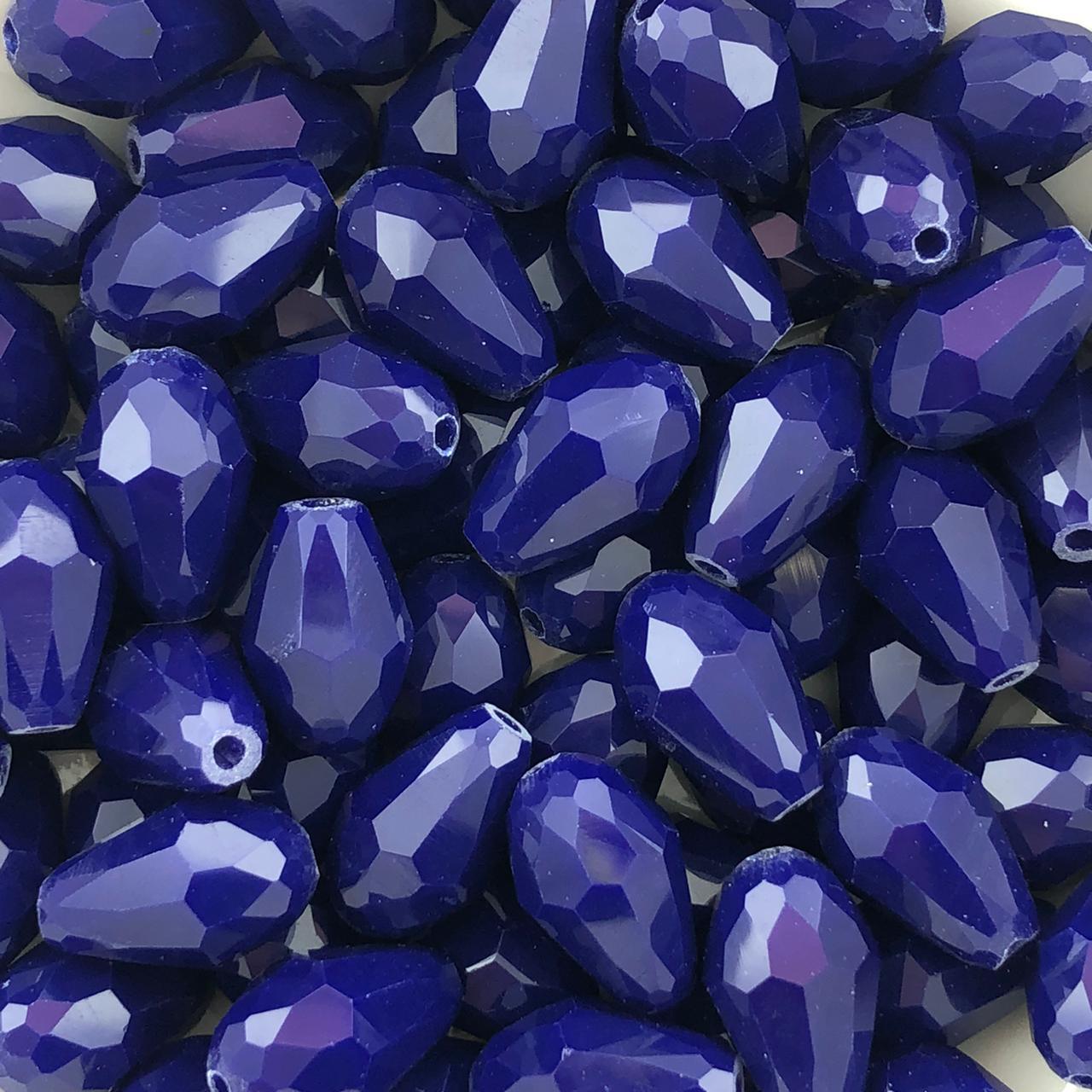 GT199 - Gota Cristal 15mm Azul Caneta - 06Unids