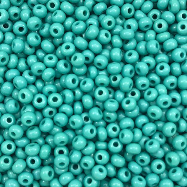 MIC07 - Miçanga Jablonex nº6 Turquesa 4,1mm - 10Grs
