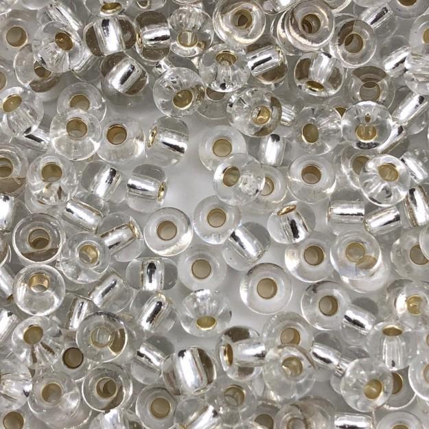 MIC105 - Miçanga Jablonex nº2 Cristal 6,1mm - 10Grs