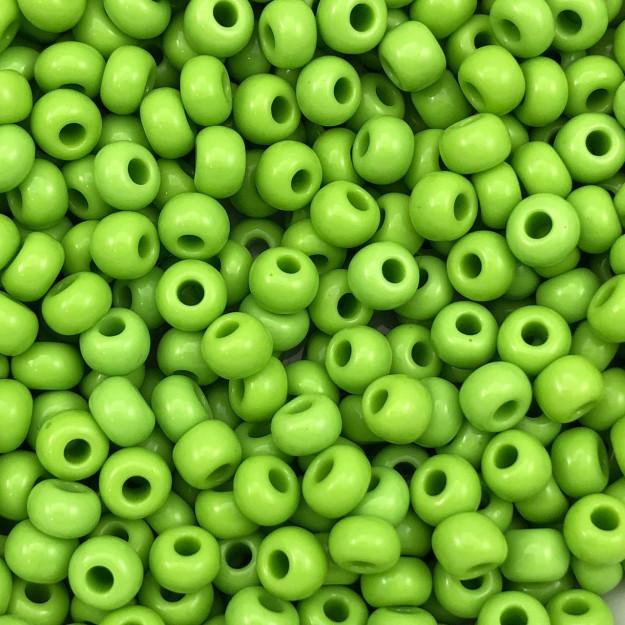 MIC122 - Miçanga Jablonex nº2 Verde Oliva 6,1mm - 20Grs