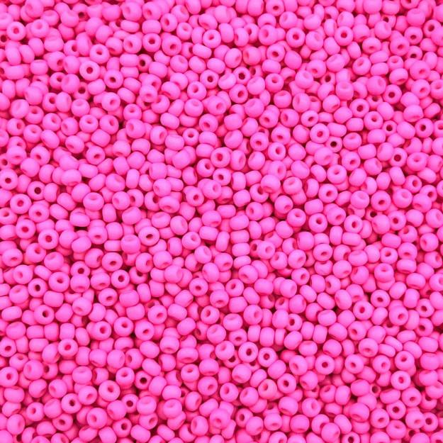 MIC128 - Miçanga Jablonex Rosa Chiclete Neon nº9 - 10g