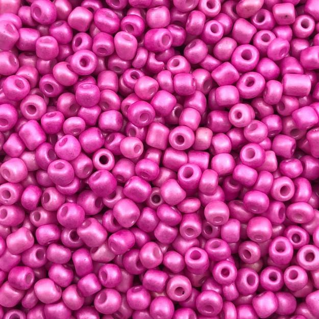 MIC144 - Miçanga Chinesa nº5 Pink Perolado 3,2mm - 10Grs