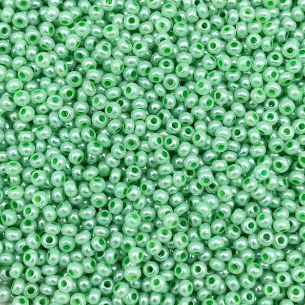 MIC164 - Miçanga Jablonex nº9 Verde Água Perolado 2,6mm - 20Grs