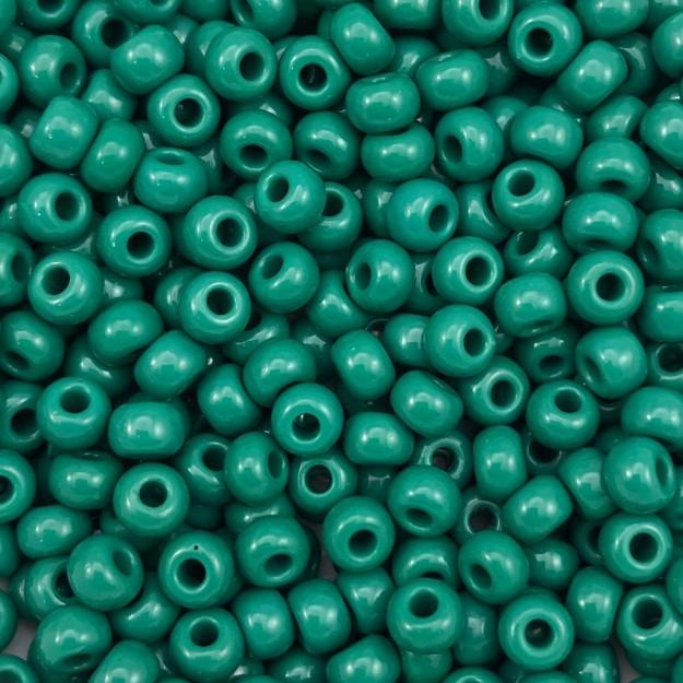 MIC175 - Miçanga Jablonex nº2 Verde Folha 6,1mm - 20Grs