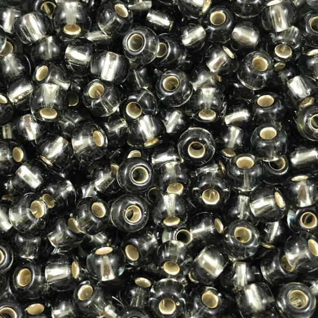 MIC189 - Miçanga Jablonex nº2 Grafite Transparente 6,1mm - 10Grs
