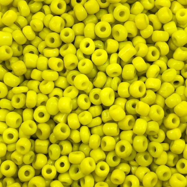MIC200 - Miçanga Chinesa nº6 Amarelo 4,1mm - 10Grs