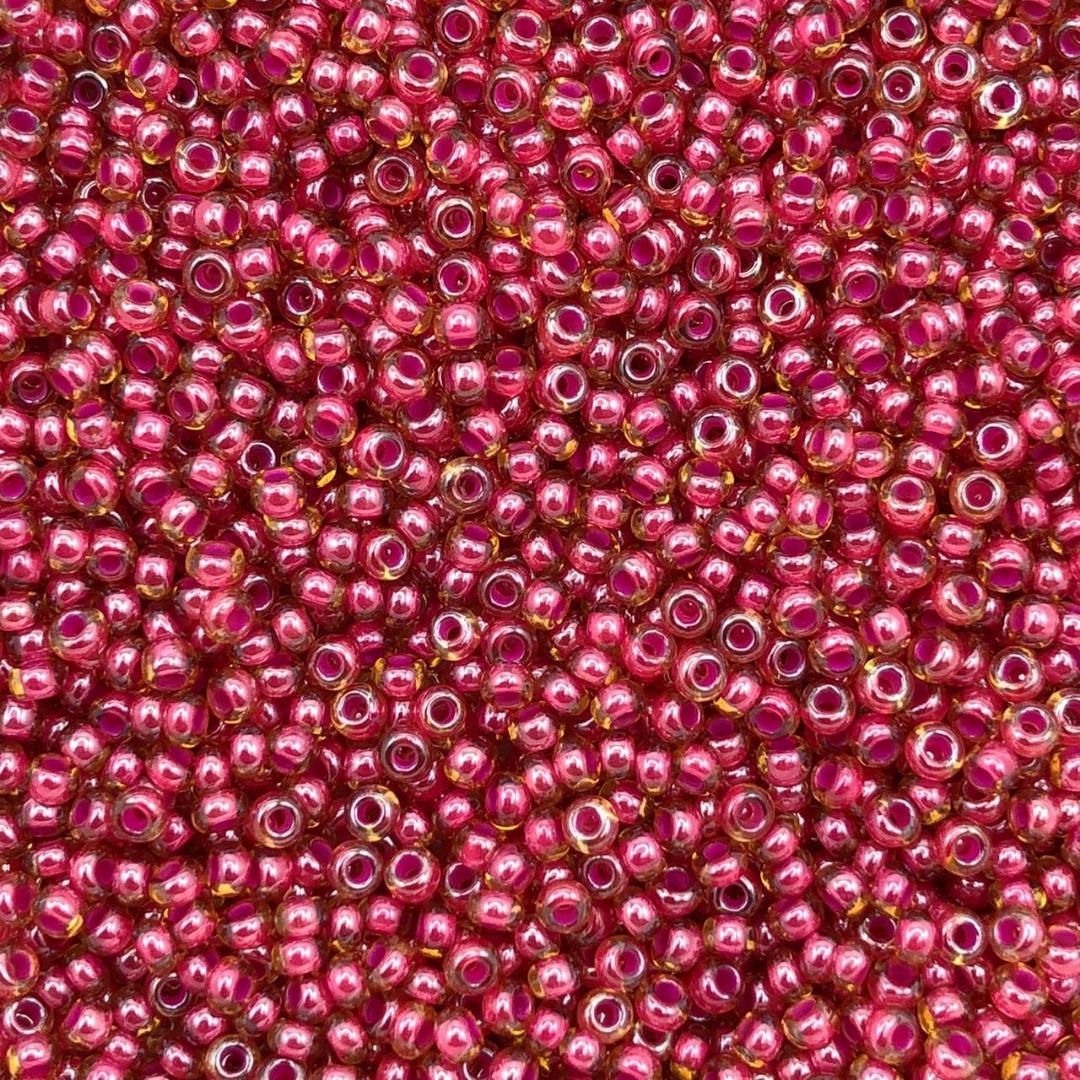 MIC215 - Miçanga Jablonex nº9 Rosa Topaz 2,6mm - 10Grs