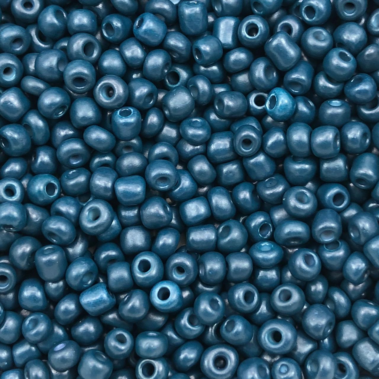 MIC235 - Miçanga Chinesa nº6 Azul Marinho 4,1mm - 10Grs