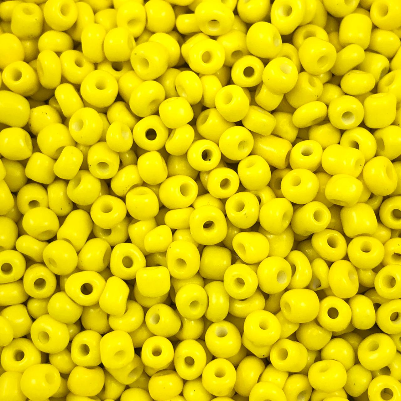 MIC238 - Miçanga Chinesa nº6 Amarelo Canário 4,1mm - 10Grs