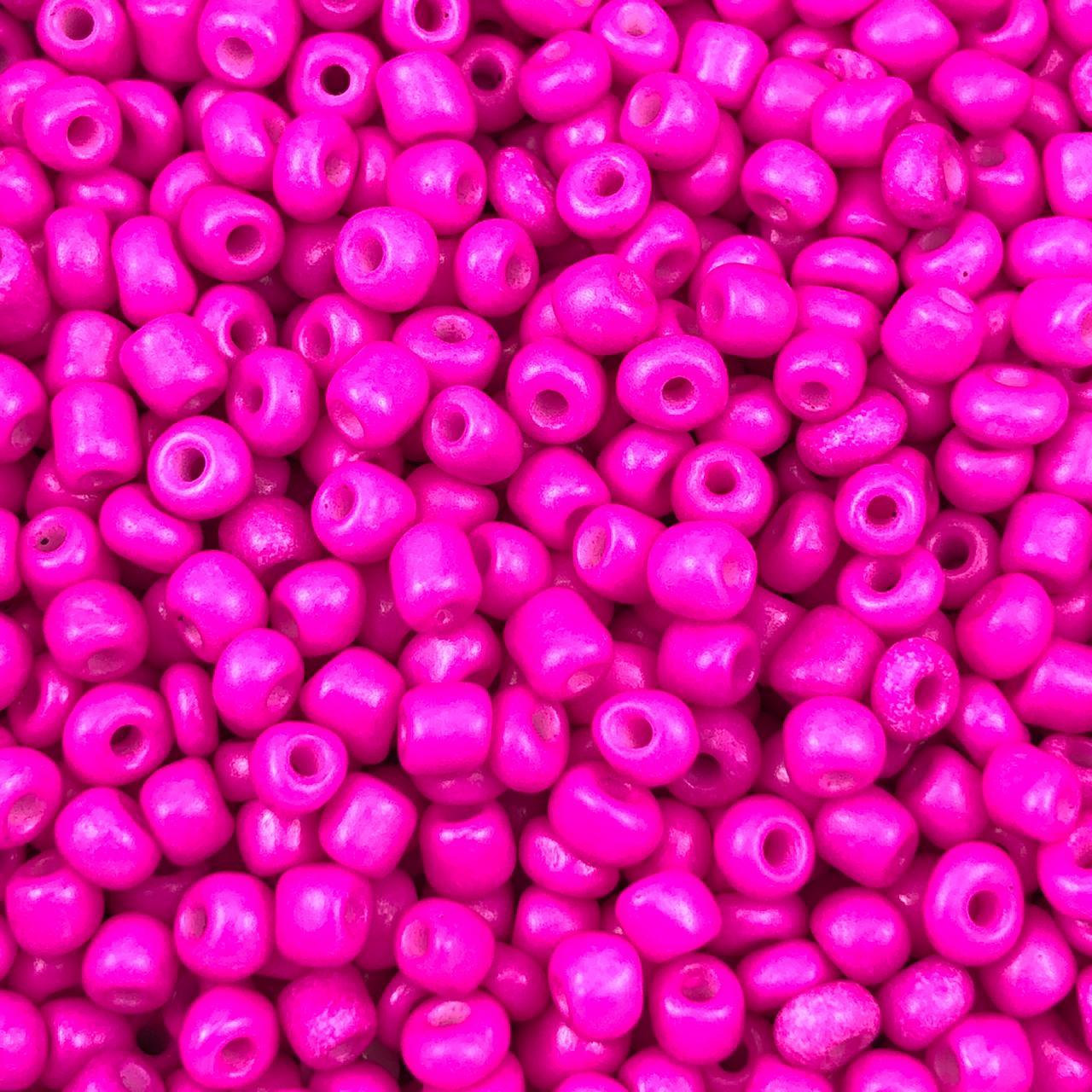 MIC247 - Miçanga Chinesa nº6 Rosa Pink 4,1mm - 10Grs
