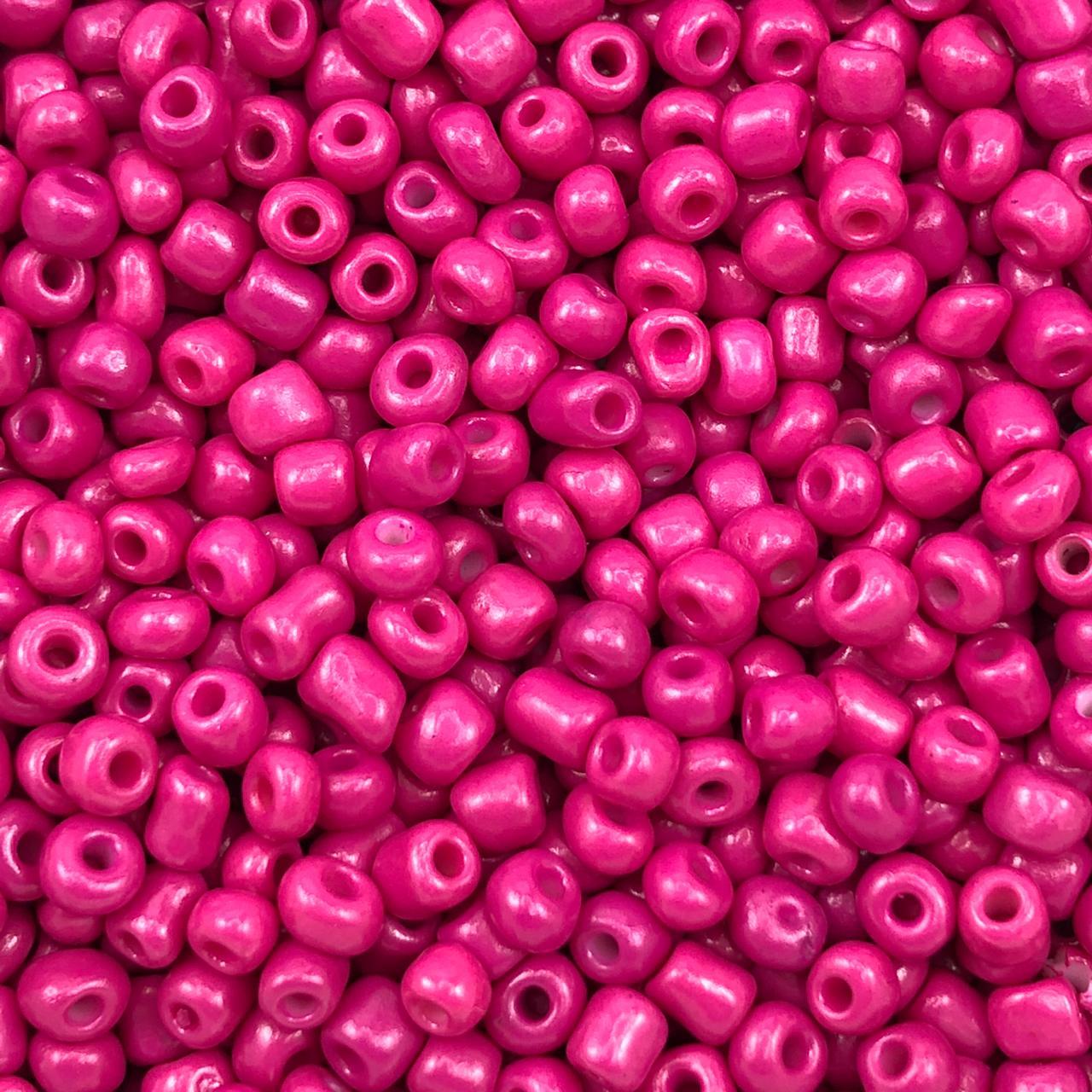 MIC249 - Miçanga Chinesa nº6 Rosa  4,1mm - 10Grs