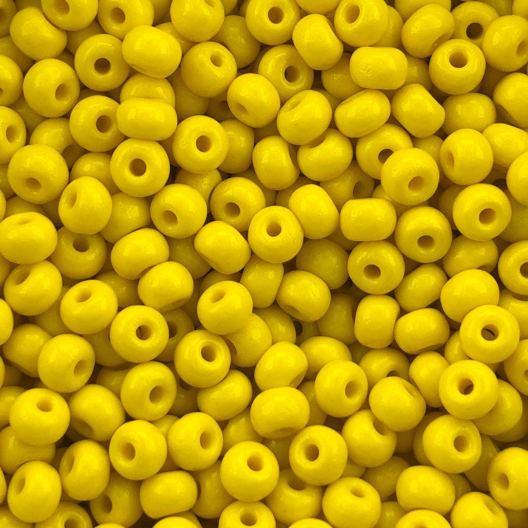 MIC255- Miçanga Jablonex nº2 Amarelo - 20Grs