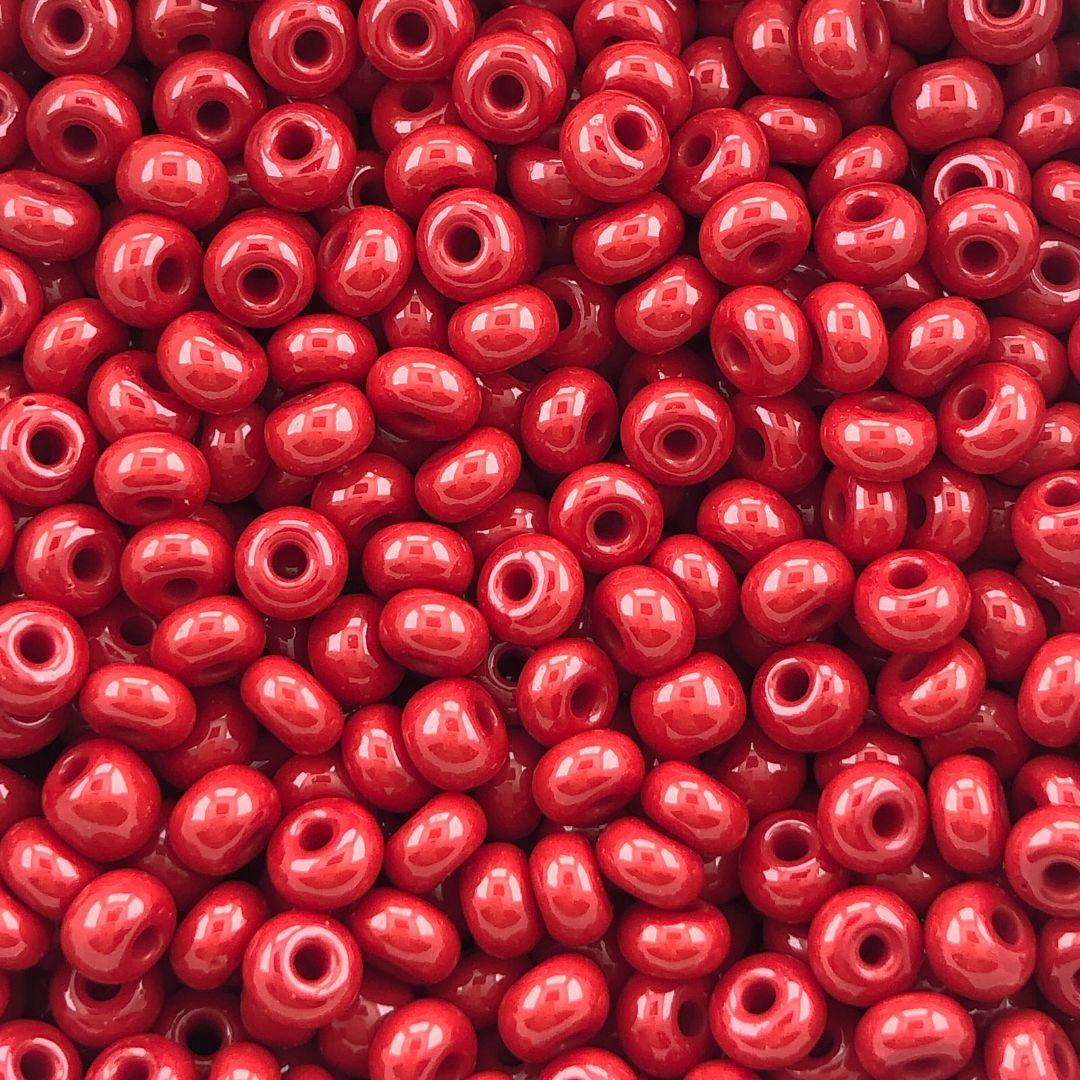 MIC256- Miçanga Jablonex nº2 Vermelho - 20Grs
