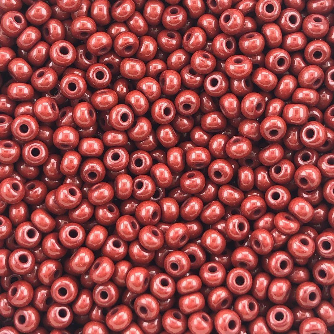 MIC264 - Miçanga Jablonex nº6 Vermelho Terra 4,1mm - 20Grs