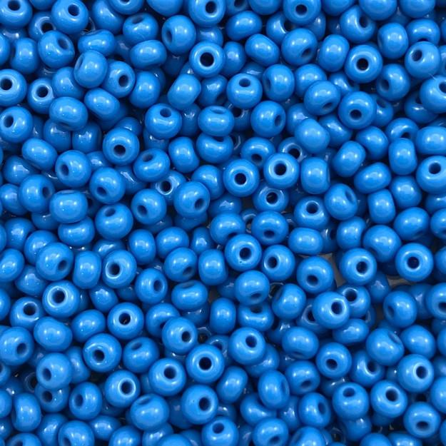MIC27 - Miçanga Jablonex nº6 Azul 4,1mm - 10Grs