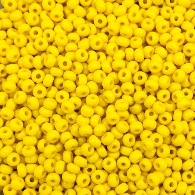 MIC28 - Miçanga Jablonex nº6 Amarelo 4,1mm - 10Grs