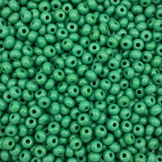 MIC33 - Miçanga Jablonex nº6 Verde 4,1mm - 10Grs