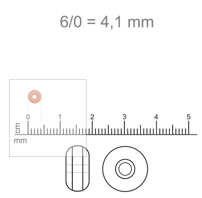MIC38 - Miçanga Jablonex nº6 - Cinza 4,1mm - 10Grs