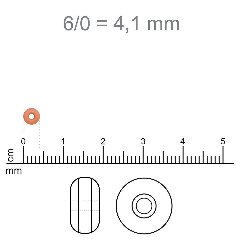 MIC42 - Miçanga Jablonex Pêssego Opaline nº6 - 10Grs