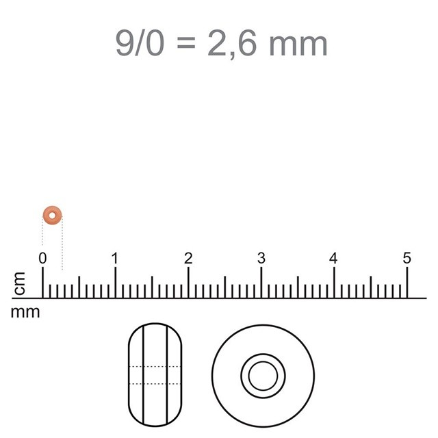 MIC45 - Miçanga Jablonex nº9 Água Fosco 2,6mm - 10Grs