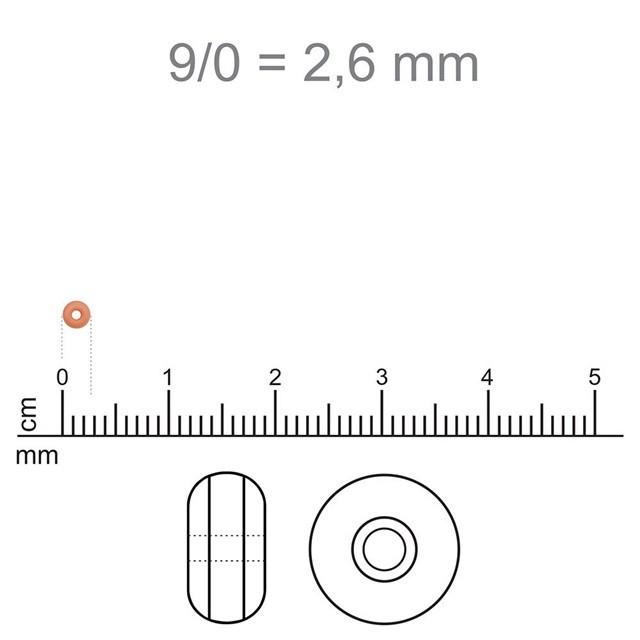 MIC52 - Miçanga Jablonex nº9 Rosa Fosco 2,6mm - 10Grs