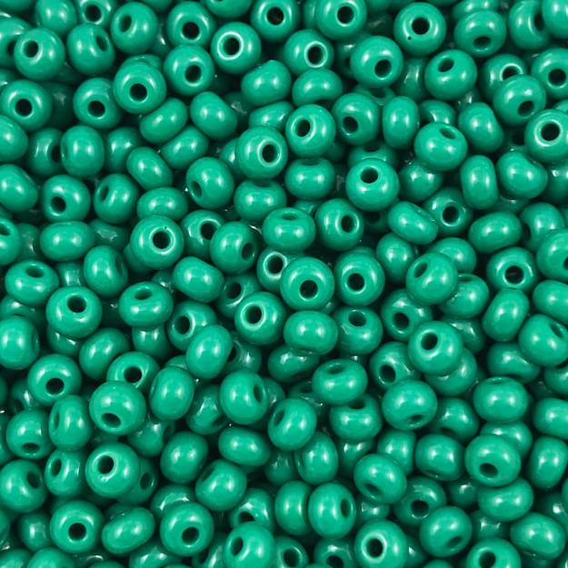 MIC55 - Miçanga Jablonex nº6 Verde Folha 4,1mm - 10Grs