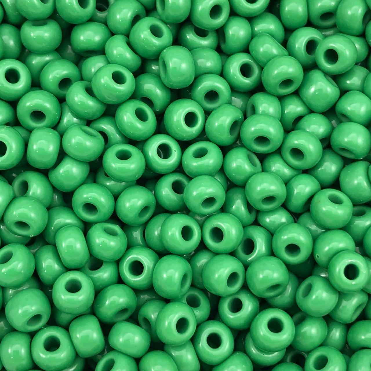 MIC61 - Miçanga Jablonex nº2 Verde 6,1mm - 10Grs