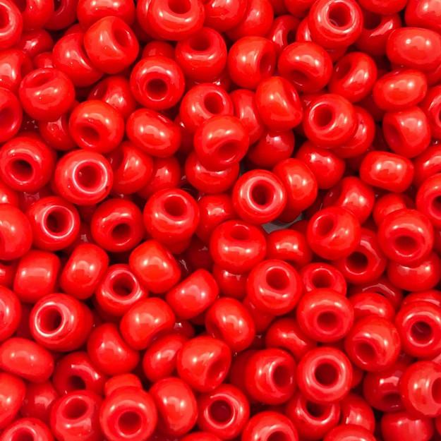 MIC64 - Miçanga Jablonex nº2 Vermelho 6,1mm - 20Grs