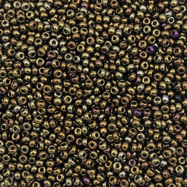 MIC71 - Miçanga Jablonex nº9 Bronze Metálico 2,6mm - 10Grs