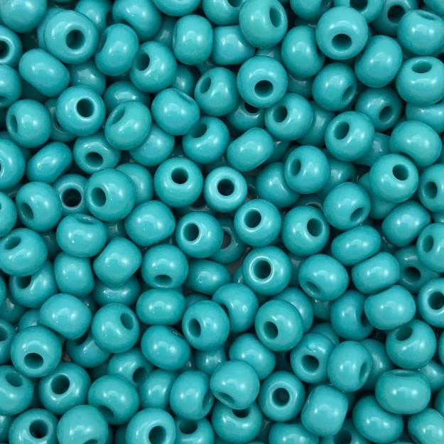 MIC90 - Miçanga Jablonex nº2 Turquesa 6,1mm - 10Grs