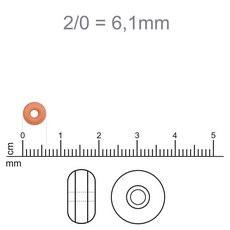 MIC95 - Miçanga Jablonex nº2 Marrom Escuro 6,1mm - 20Grs