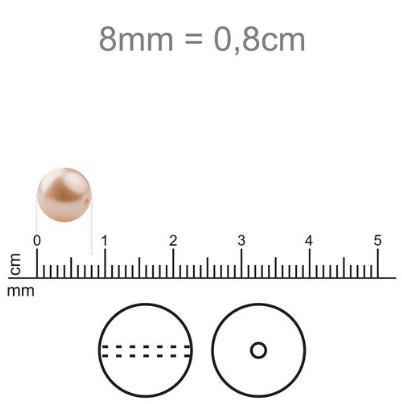 OG06 - Murano Olho Grego Turquesa 8mm - 12Unids