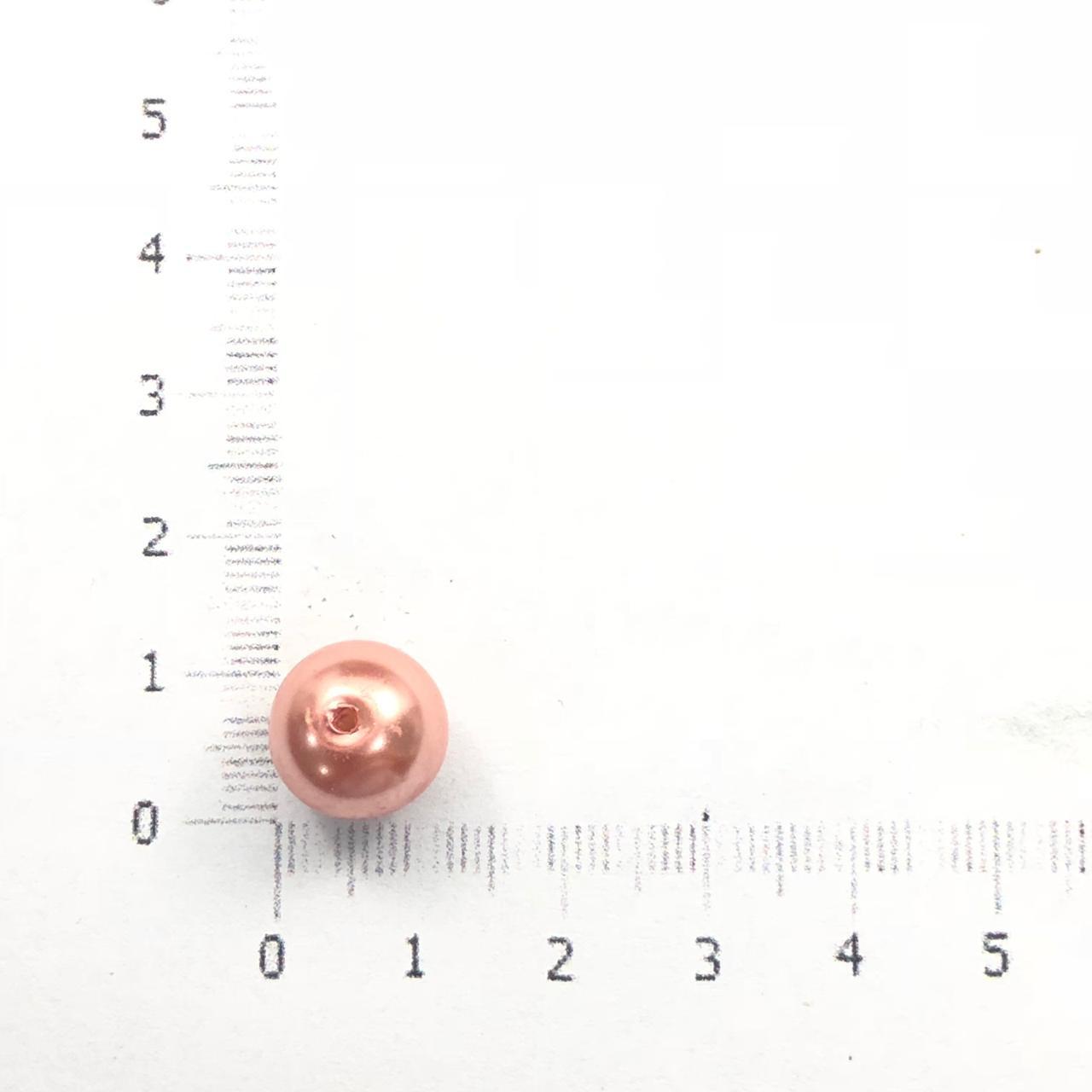 PE109 - Pérola de Vidro Salmão 10m - 40Unids