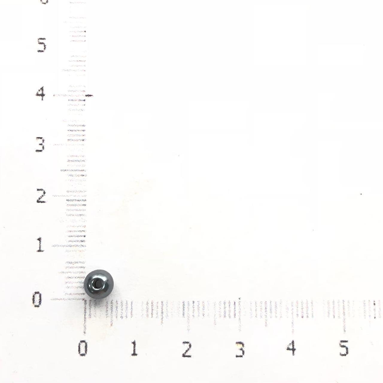 PE124 - Pérola de Resina 5m Grafite - 10Grs
