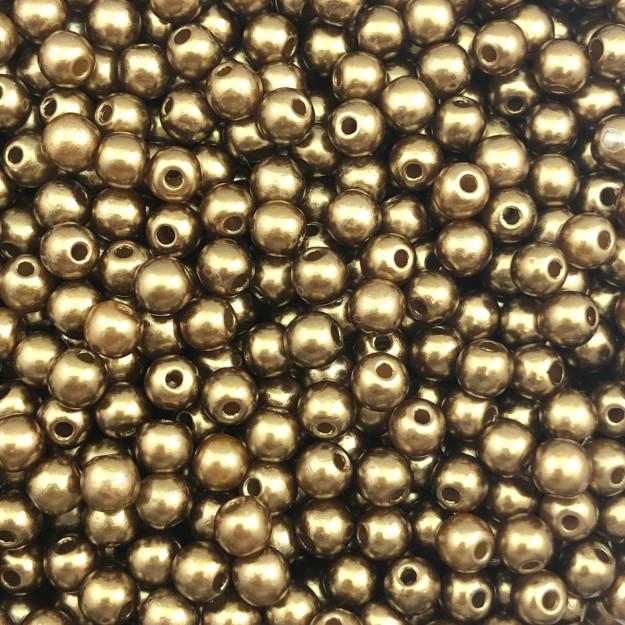 PE143 - Pérola de Resina 5m Chocolate - 10Grs