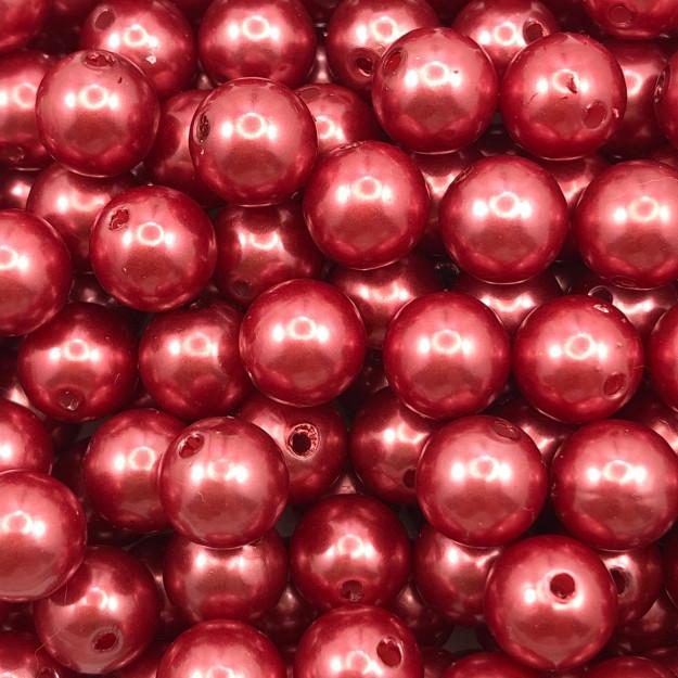 PE167 - Pérola de ABS Vermelho 10mm - 20Grs