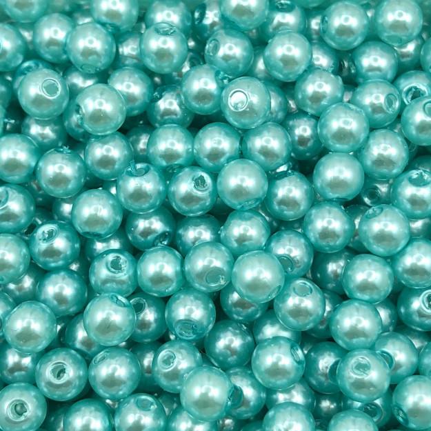 PE176 - Pérola de ABS Azul Claro 6mm - 20Grs