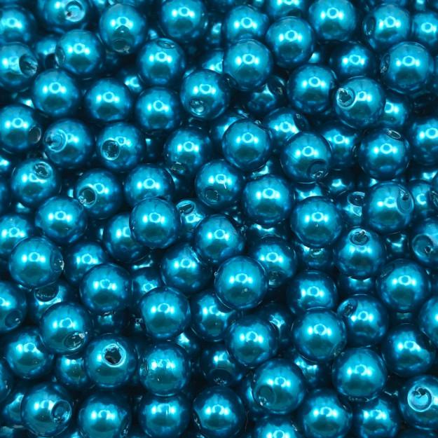 PE178 - Pérola de ABS Azul 6mm - 20Grs