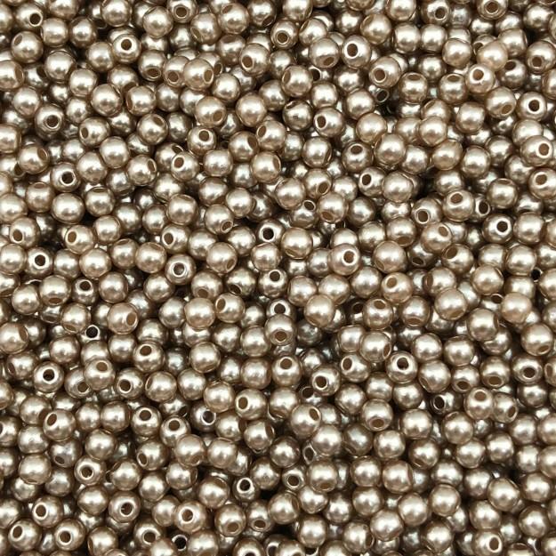 PE36 - Pérola de Resina 3m Bronze - 10Grs