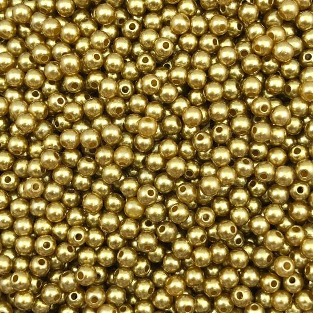 PE44 - Pérola de Resina 4m Dourada - 10Grs
