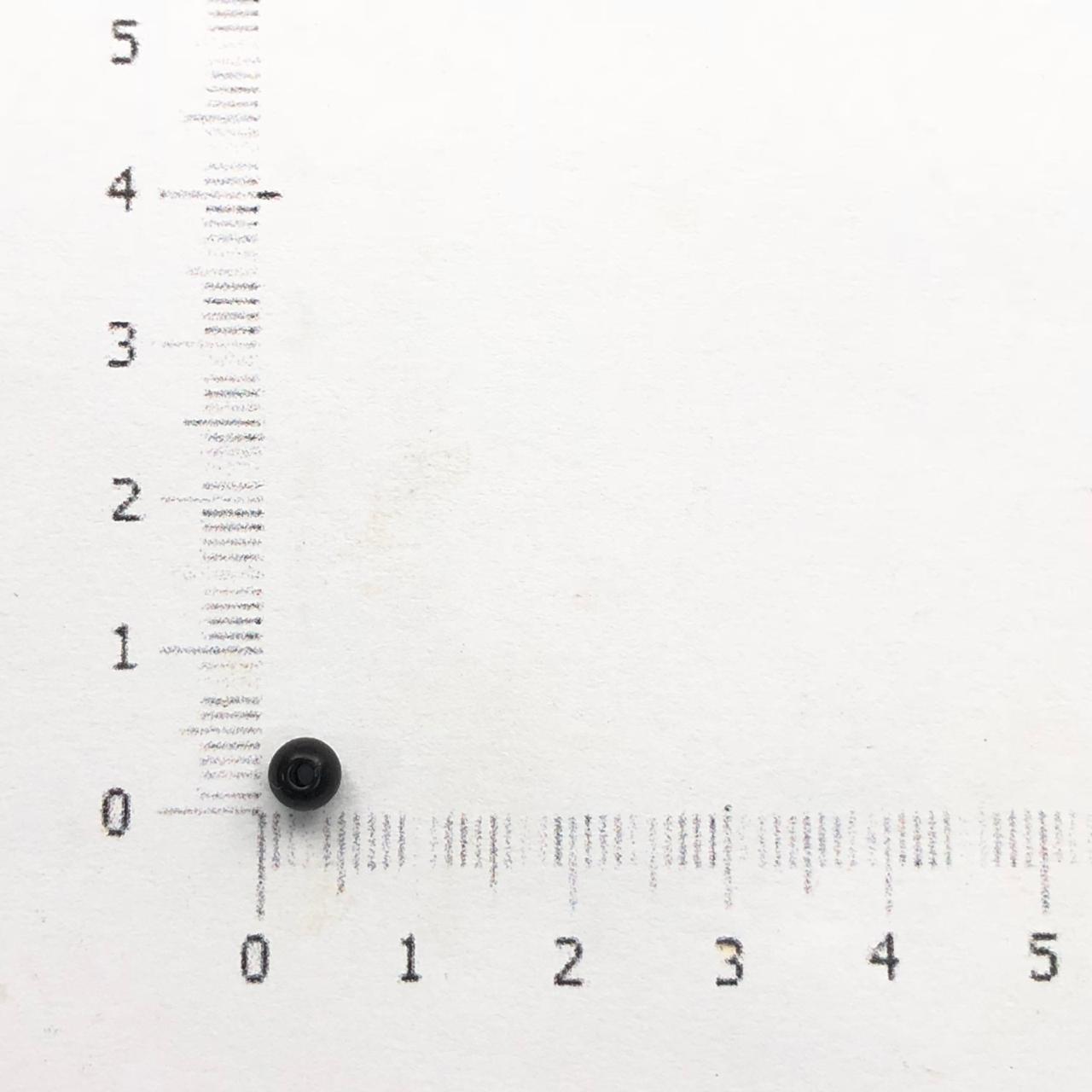 PE46 - Pérola de Resina 4m Preto - 10Grs