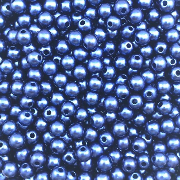 PE49 - Pérola de Resina 5m Azul - 10Gr