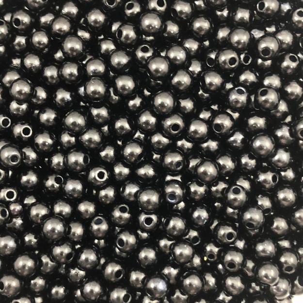 PE52 - Pérola de Resina 5m Preto - 10Grs